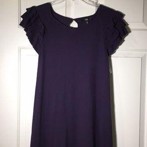NWT Ruffle sleeve muted plum sweater dress sz Med